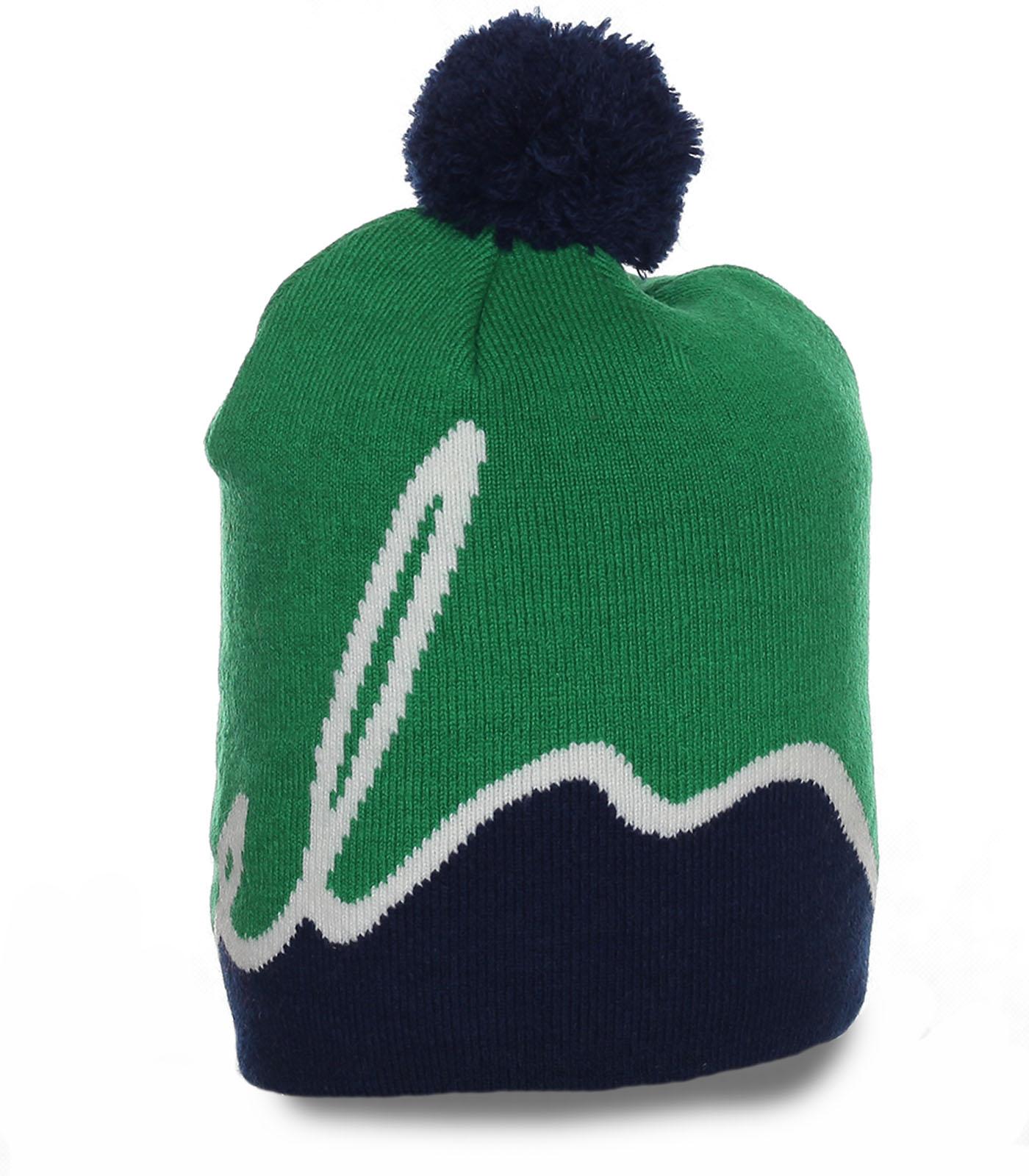 Неподражаемая отменная теплая шапка красочного ультрамодного дизайна