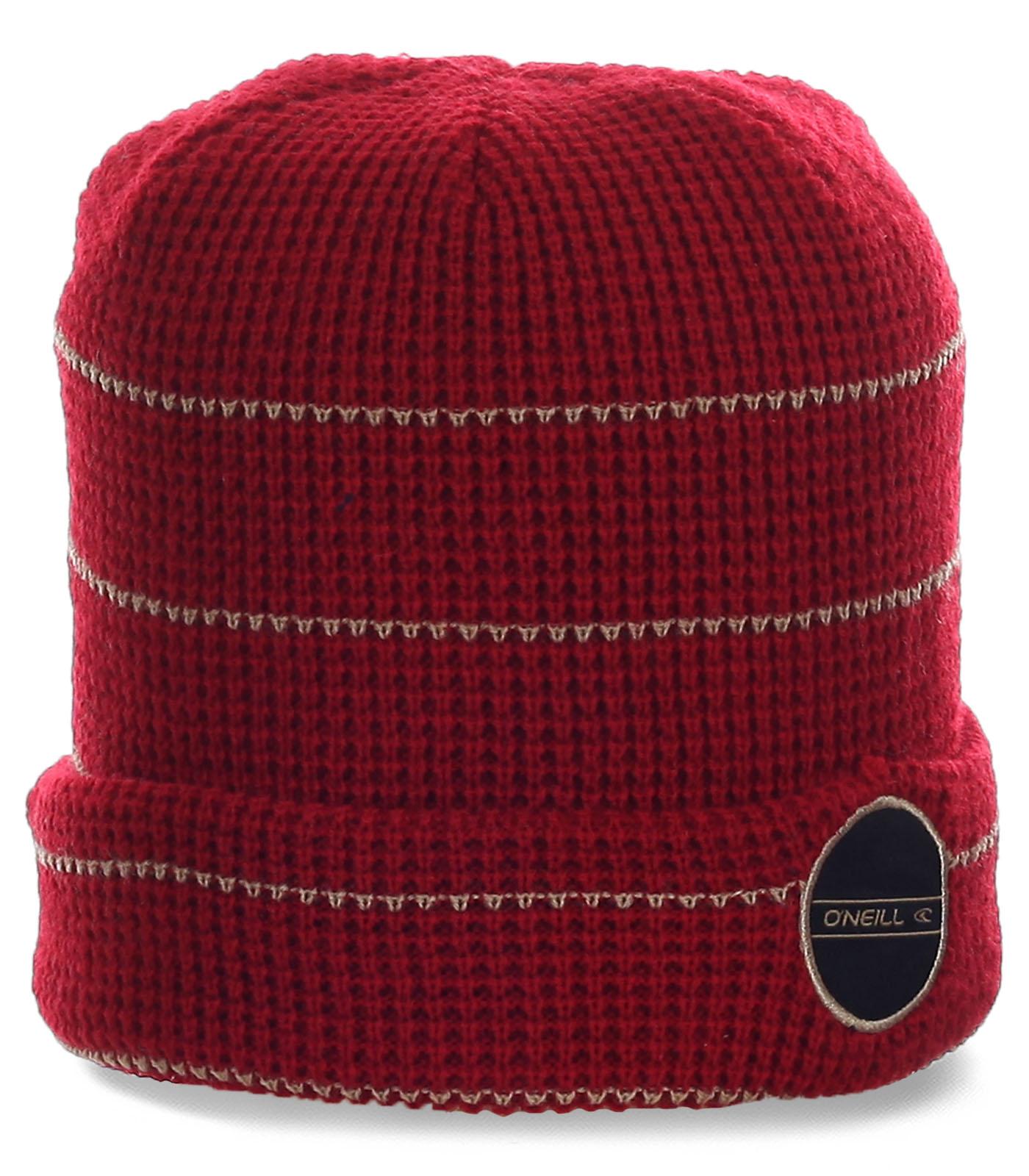Неповторимая мужская шапка с отворотом бренда Oneill для тех, кто в спорте