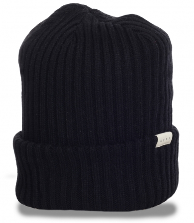 Неприхотливая мужская шапка с отворотом от бренда Neff удобный и практичный фасон