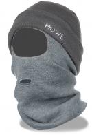 Непродуваемая трикотажная шапка-балаклава Huwl с двумя отверстиями