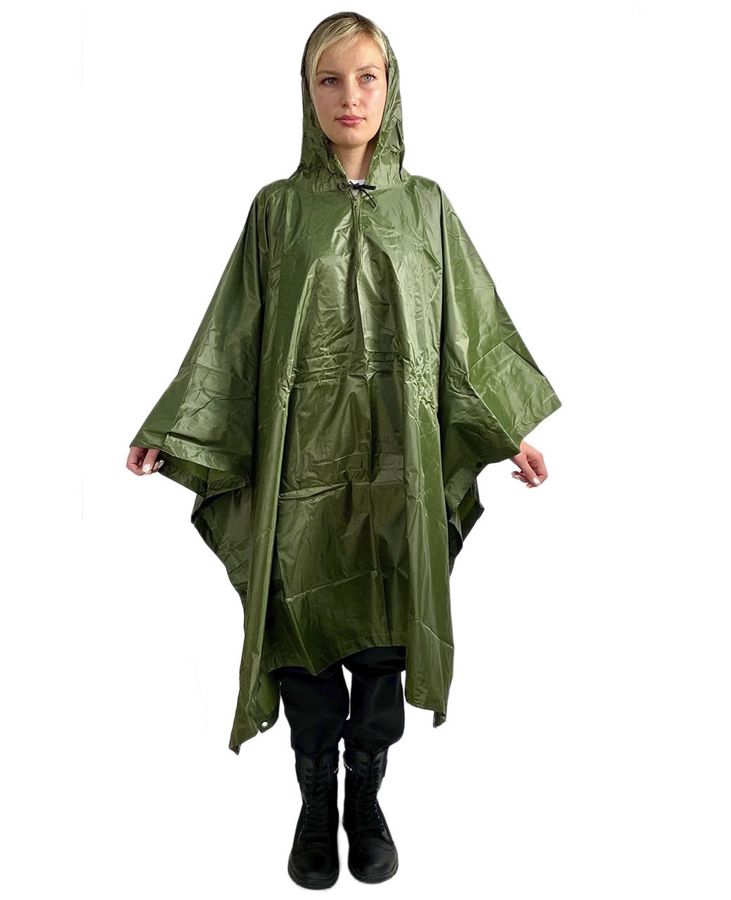 Непромокаемый дождевик оливковый - недорого