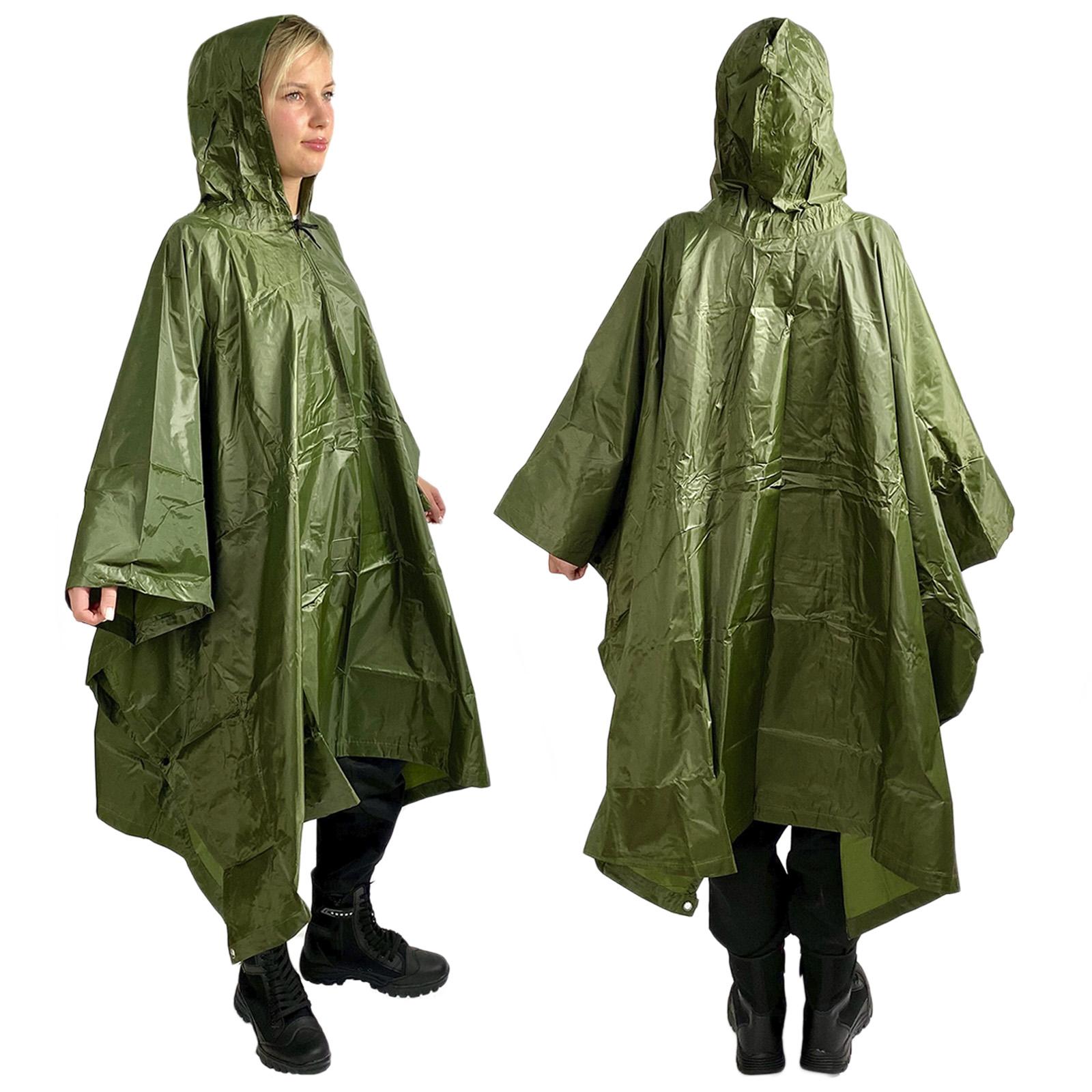Непромокаемый дождевик оливковый
