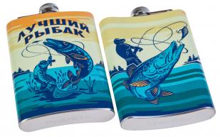 Нержавеющая фляжка Лучшему рыбаку в Военпро