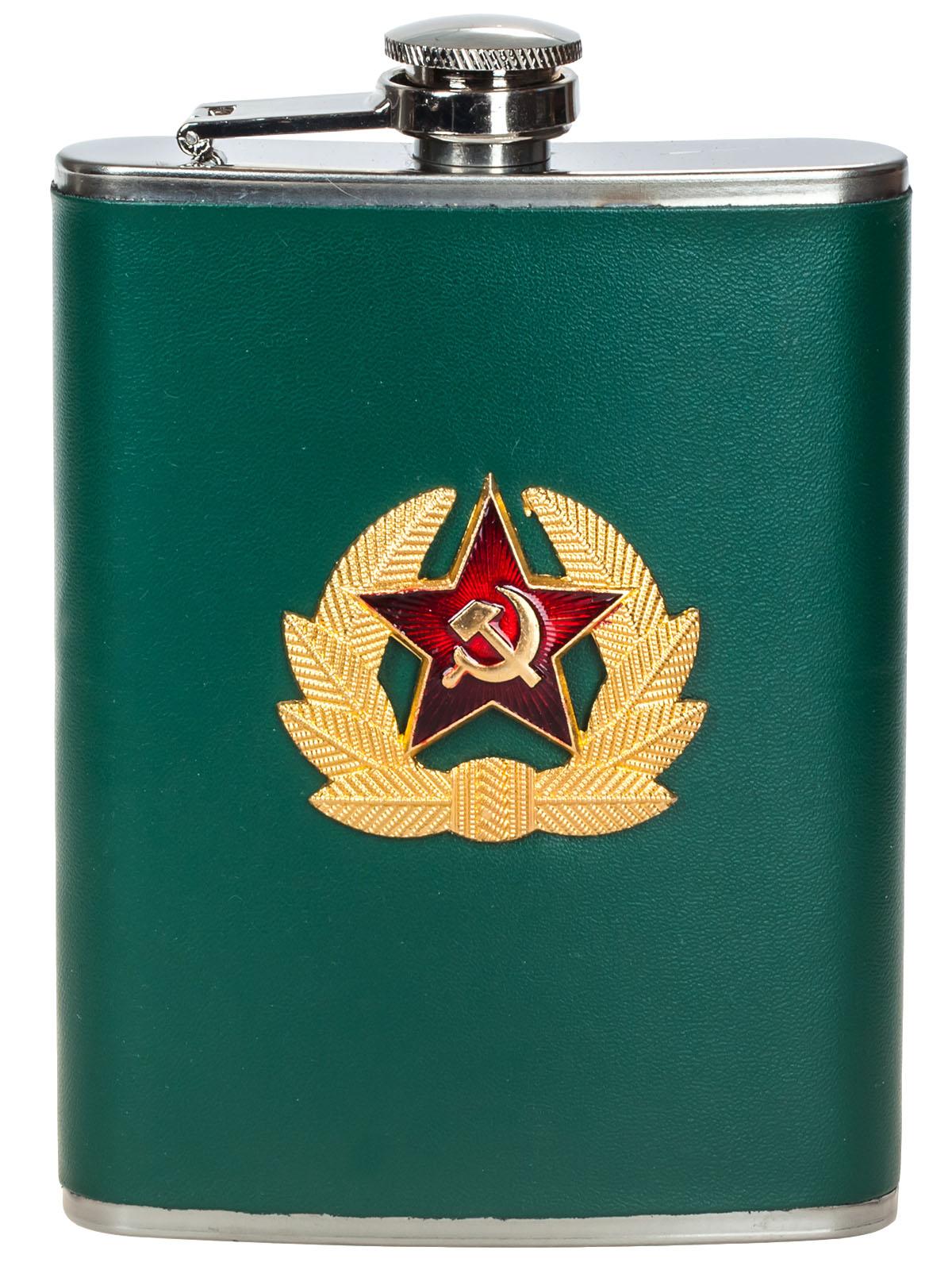 Заказать в интернет магазине фляжку для спиртного с Советским гербом