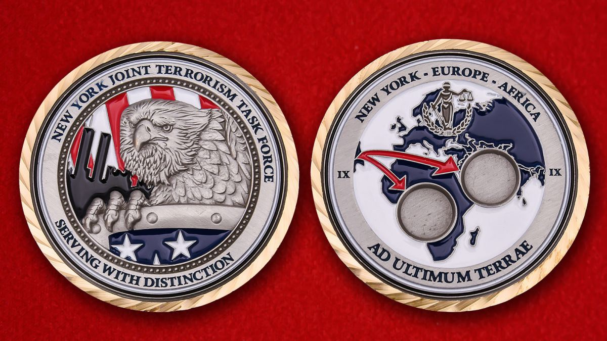 New York joint terrorism task force Challenge Coin - obverse and reverse - obverse and reverse