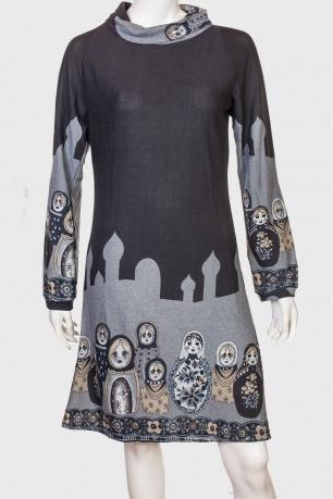 Незабываемое женственное платье с невероятным принтом