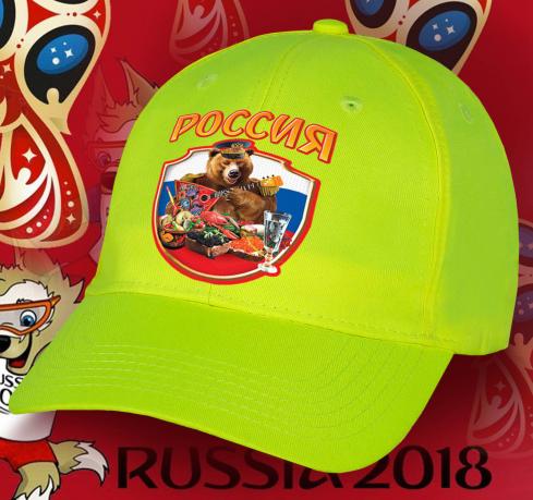 Незаурядная колоритная бейсболка Россия с принтом от дизайнеров Военпро «Мишка за богатым столом» отменное решение для фанатов. Не теряйте возможность, количество ограничено!