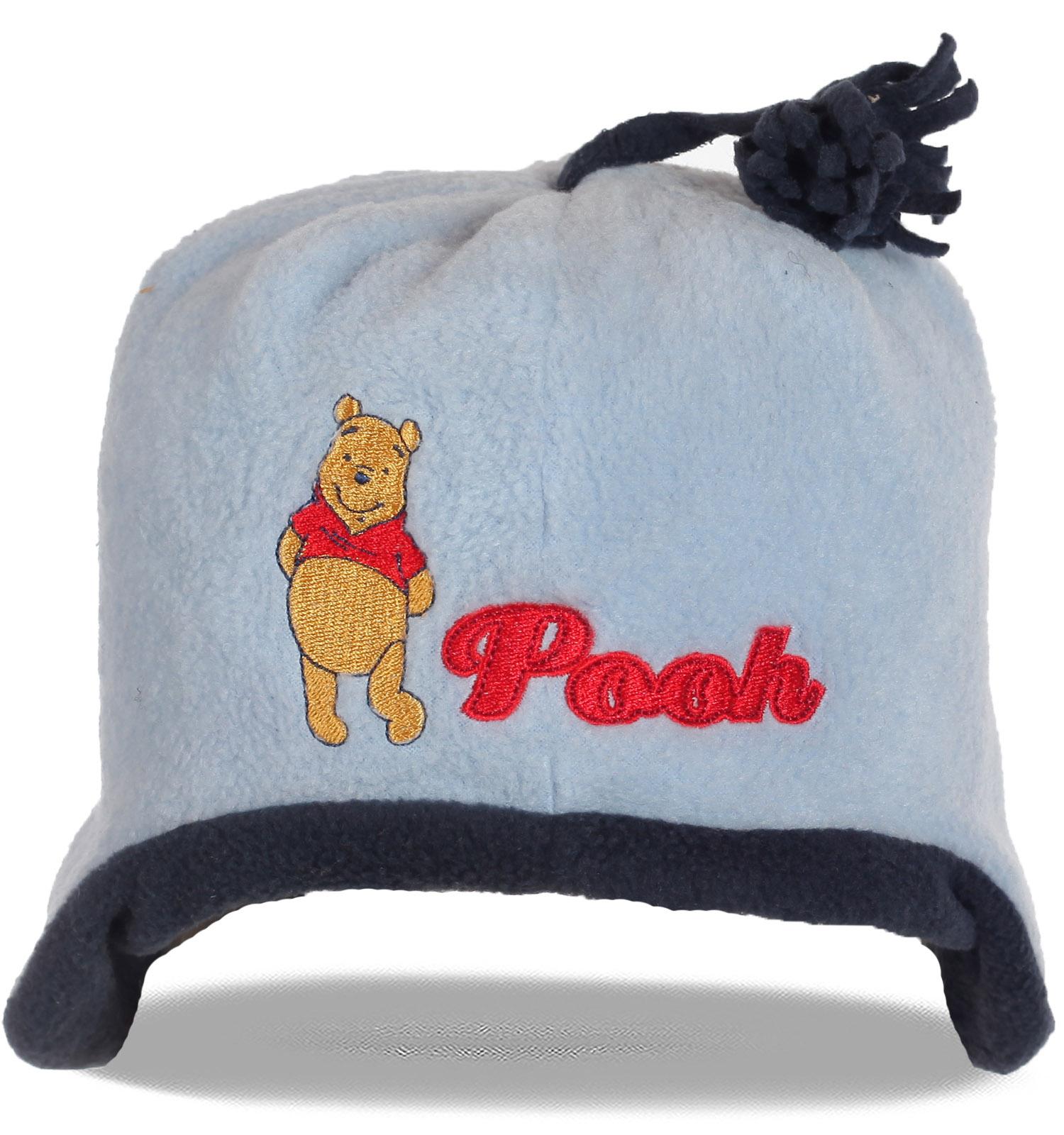 Зимняя шапка Pooh утепленная флисом