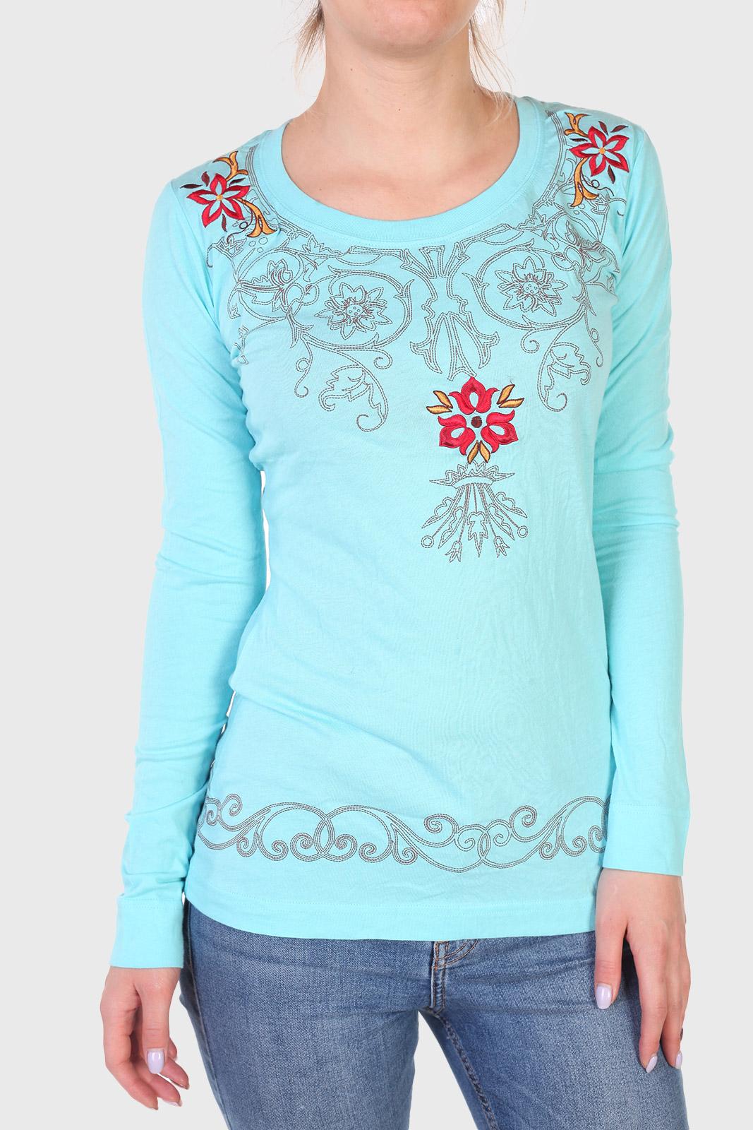 Нежно-голубая женская кофточка Panhandle Slim с длинным рукавом
