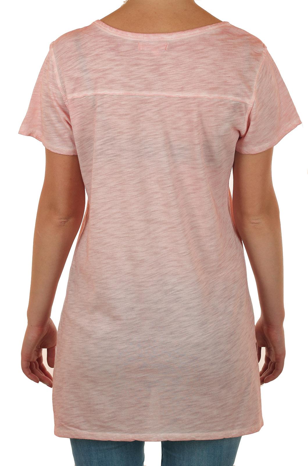 Нежно-розовая удлиненная женская футболка Maurices – GUID LINE коллекции 2017