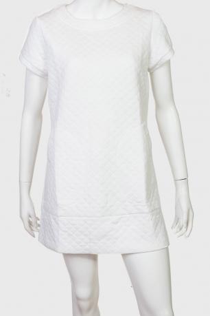 Нежное белое платье-туника от бренда ZB