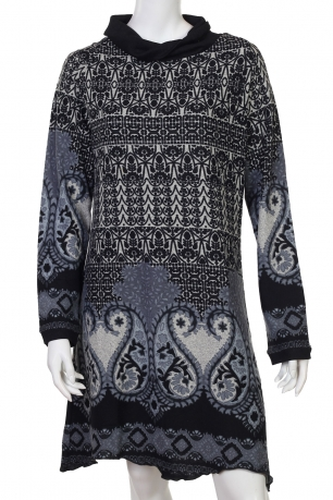 Нежное миди-платье с этно-орнаментом
