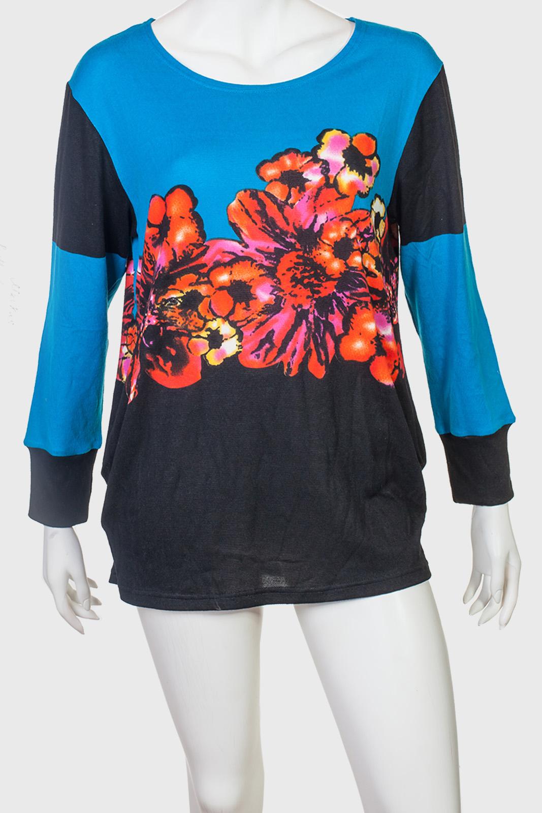 Нежное платье-туника с цветами мака