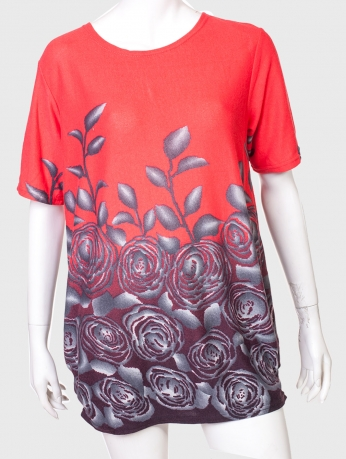 Нежное притягательное платье-туника с цветочным принтом