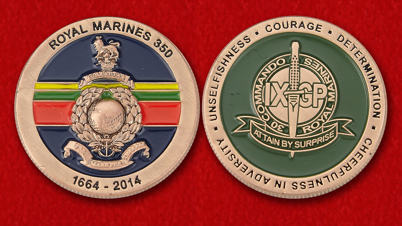 No. 30 Commandos Royal Marines Challenge Coin