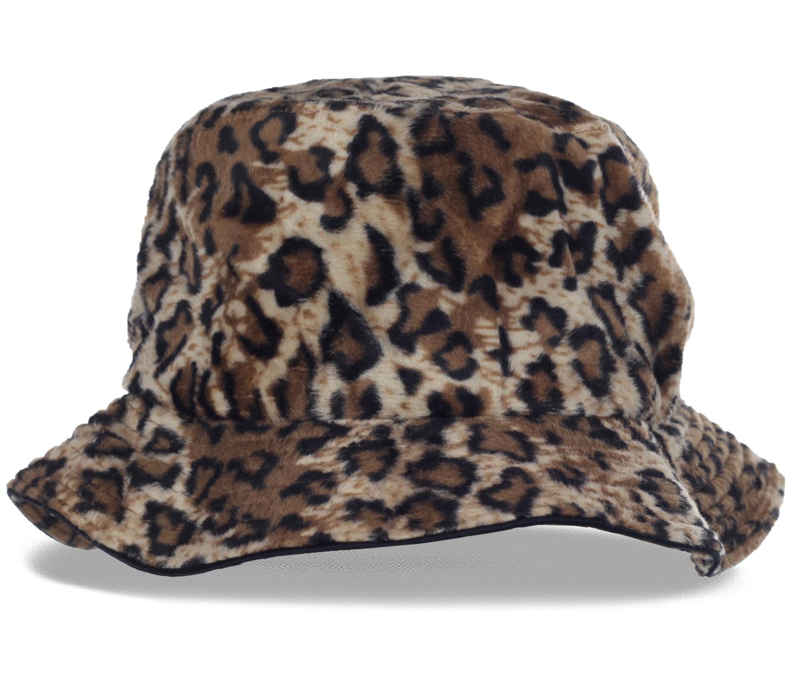 Новинка сезона - теплая шляпка хищной расцветки с мягкими полями. Ваш суперстильный и уникальный образ