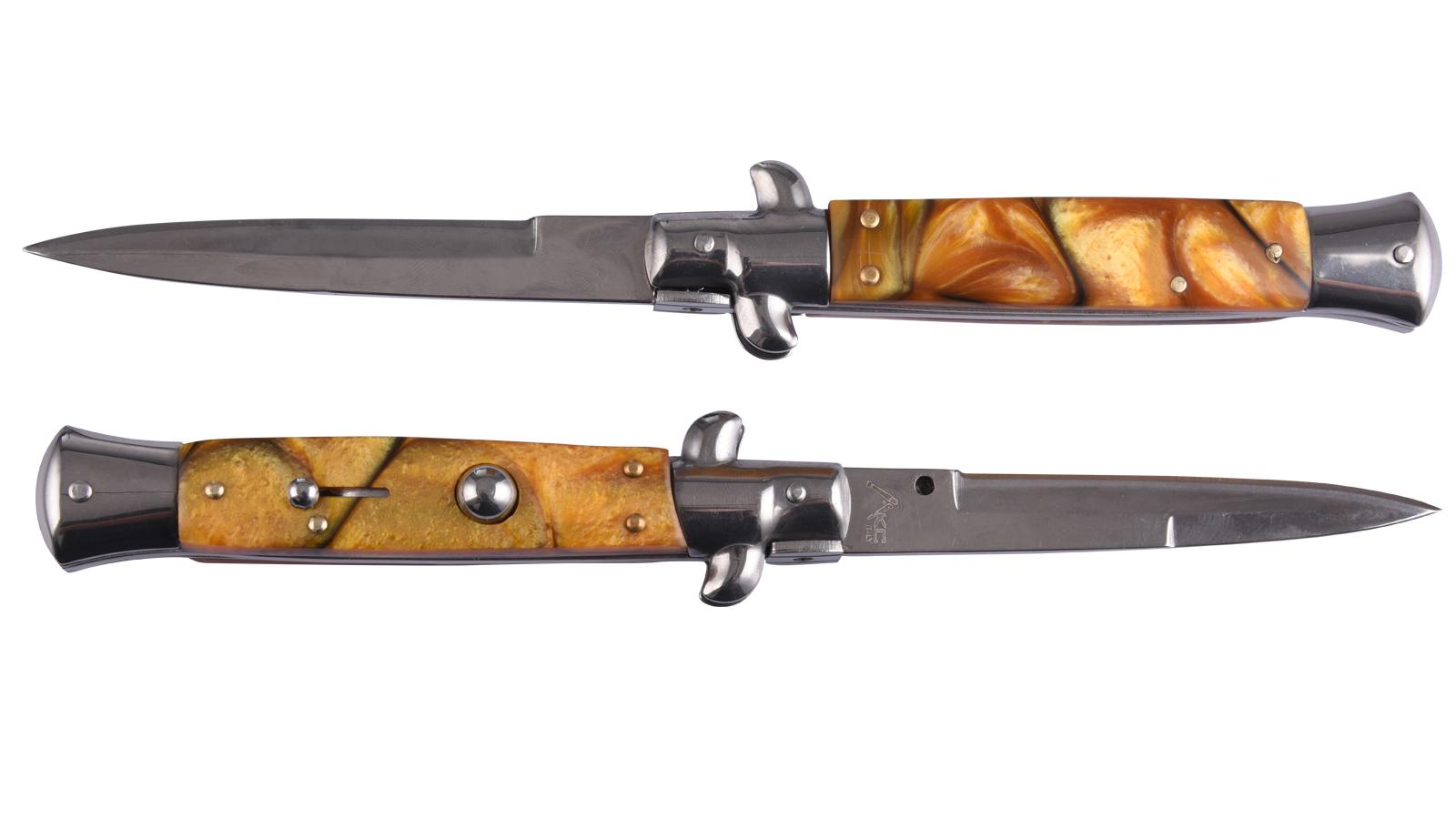 """Нож AKC Italy 9"""" выкидной высокого качества"""