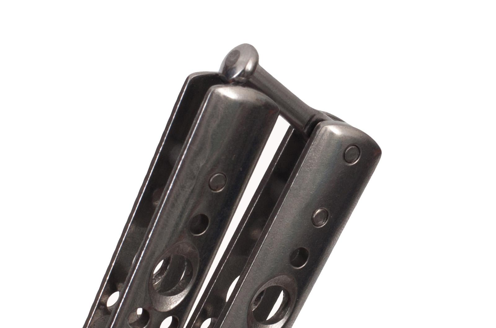 Нож Бабочка серебристая складной