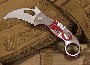 Нож-керамбит Frost USA Red Scorpio (США) - заказать с доставкой