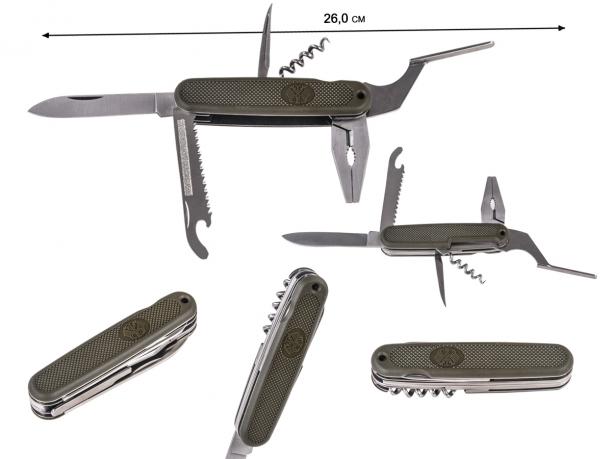 Нож-мультитул с плоскогубцами Mil-Tec Bundeswehr BW Taschentool Zange (Германия)