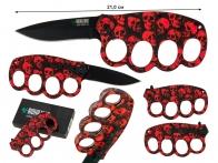 Нож на случай нашествия зомби Biohazard Zombie Survival Red Skull