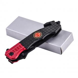 Нож пожарного Fire Fighter с клинком танто и стеклобоем с доставкой