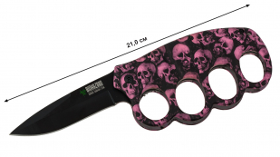 Нож против зомби Biohazard Zombie Survival Purple Skull - купить в розницу