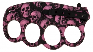 Нож против зомби Biohazard Zombie Survival Purple Skull  купить в подарок