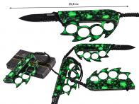 Нож против зомби Tac-Force TF-793 Zombie Green (США)