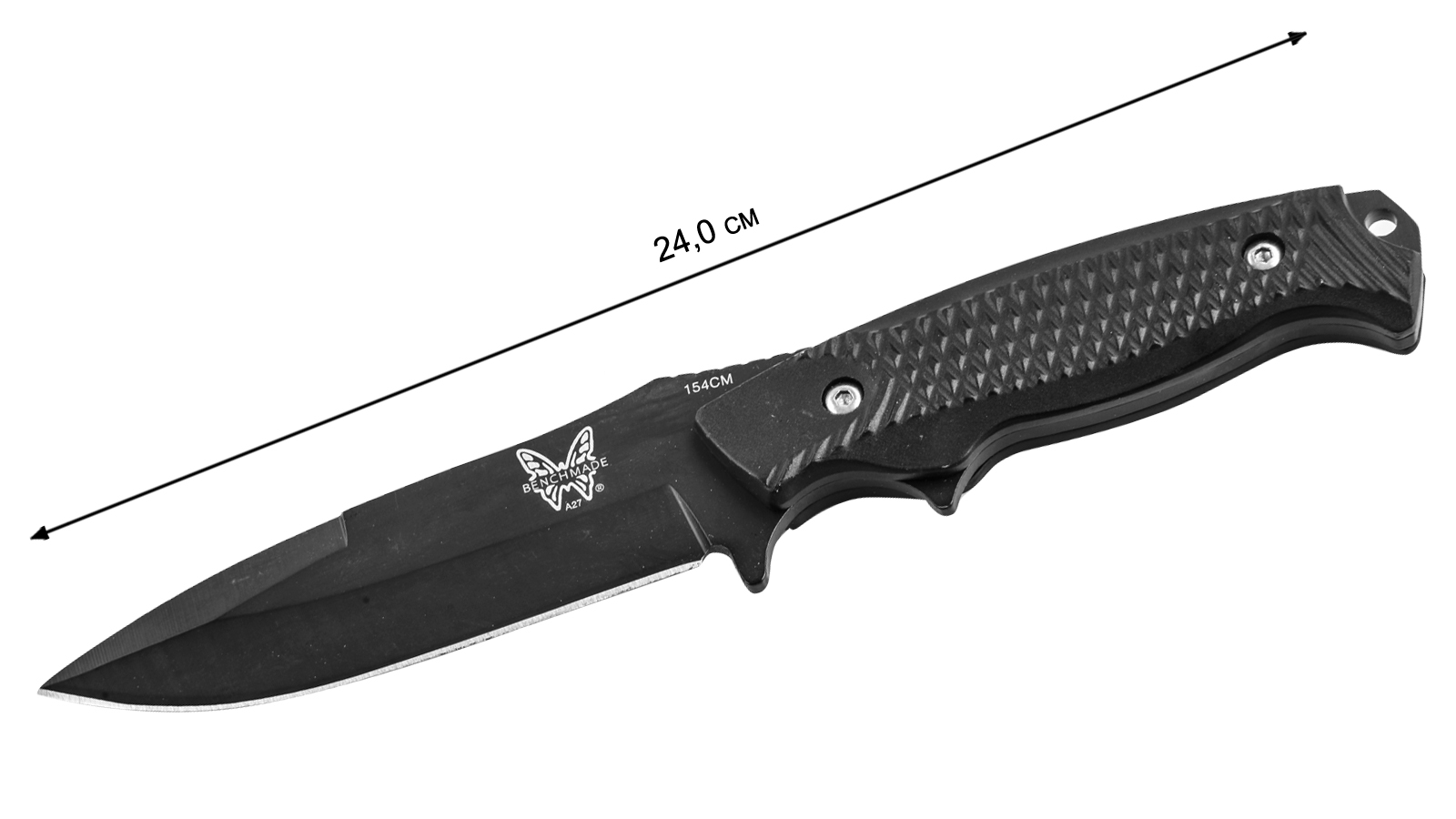 Нож с фиксированным клинком Benchmade A27 (США) - размер