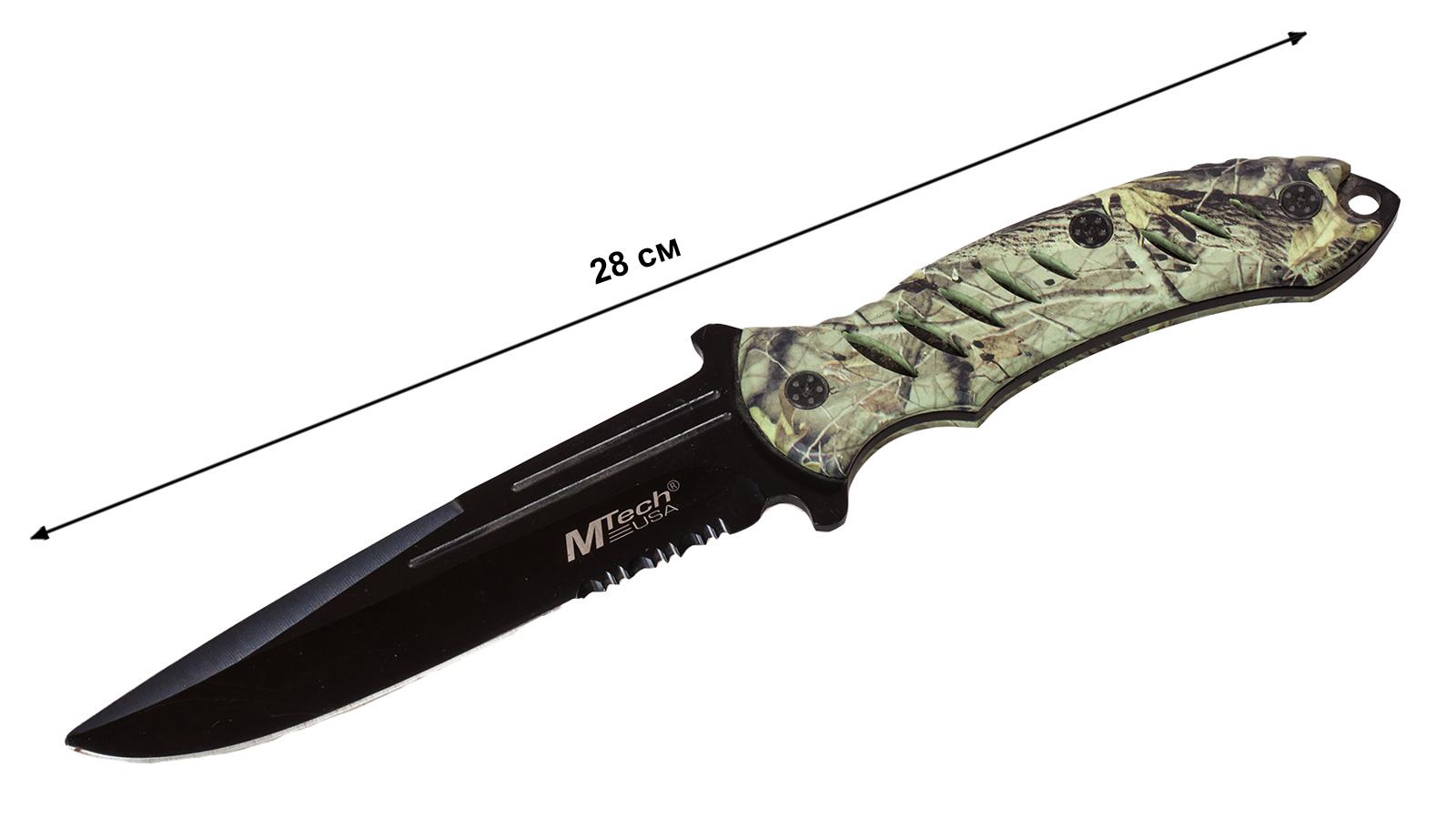 Нож с фиксированным клинком MTech Realtree Camo - купить с доставкой