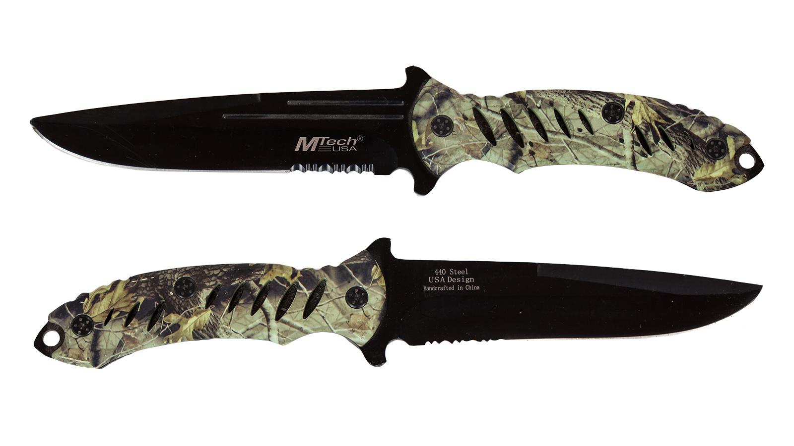 Нож с фиксированным клинком MTech Realtree Camo - купить оптом