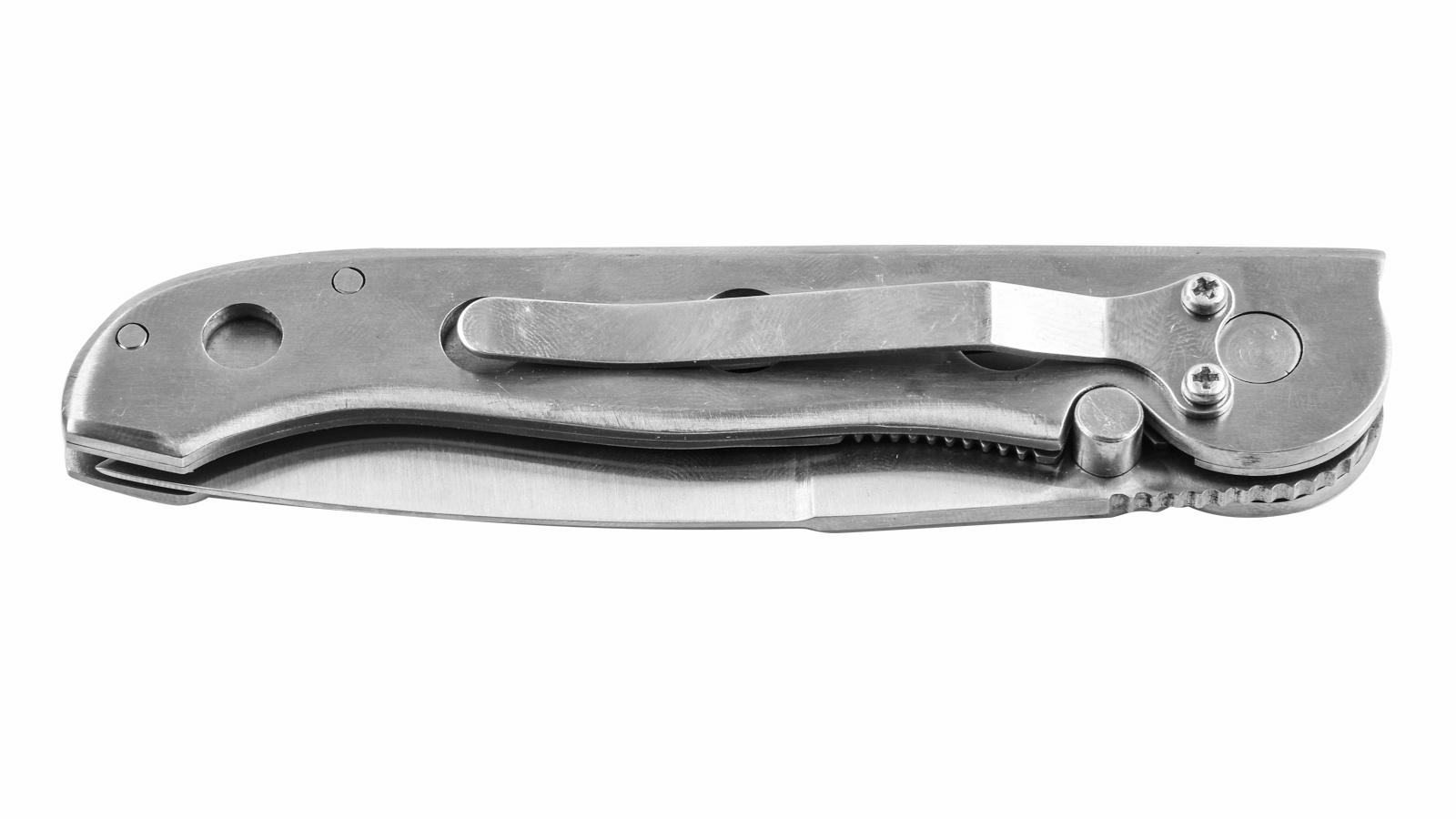 Нож с металлической ручкой Half-Serrated Blade Lock Pocket Knife 205