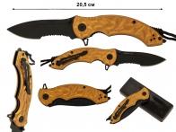 Нож с темляком Lanyard OR Half-Serrated Folding Knife