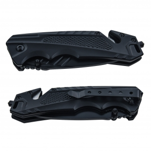 Нож со стеклобоем и стропорезом Wartech PWT215BK (черный)
