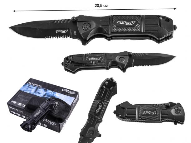 Нож Walther Black Tac Lock Knife 440SS