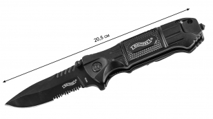 Нож Walther Black Tac Lock Knife 440SS - размер