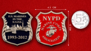 NYPD US Marines Association Challenge Coin