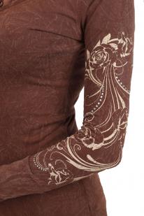 Облегающая туника Panhandle Slim. Молодежная модель с капюшоном и тату-орнаментами на рукавах. Тебе захотят подражать!