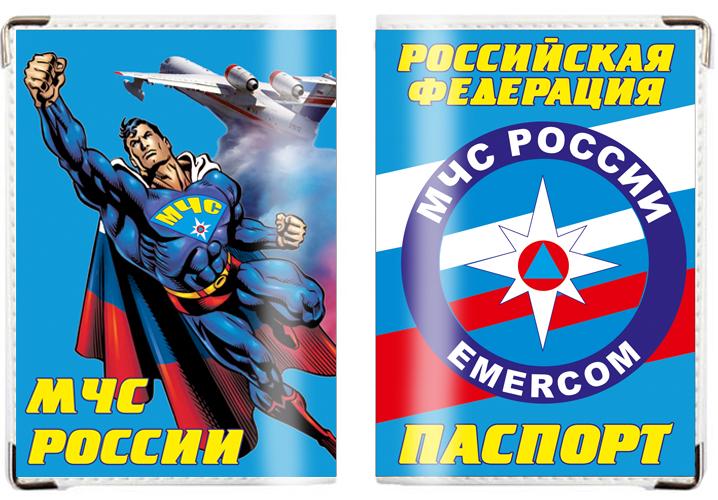 Обложка на паспорт «МЧС Супермен»