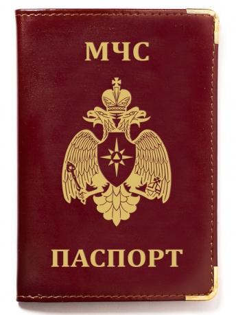 Обложка на паспорт с тиснением эмблемы МЧС