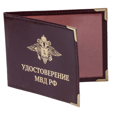 Обложка на удостоверение «МВД России»