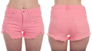 Обрезанные женские шорты MOSSIMO с бахромой и потертостями