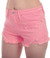 Обрезанные женские шорты MOSSIMO с бахромой и потёртостями