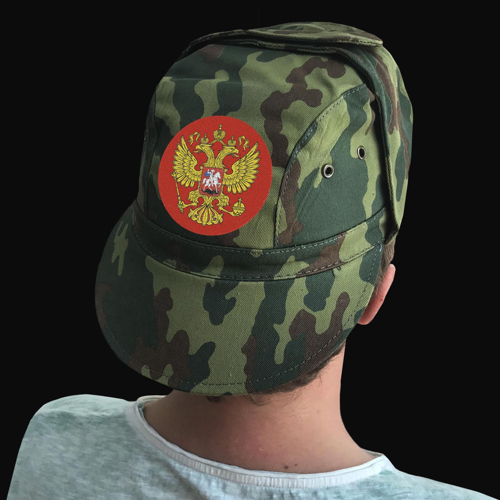 Недорогие армейские кепки с вышитым гербом РФ