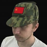 Общеармейская кепка камуфляж с флагом СССР.