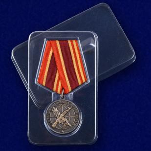 Общественная медаль Ветеран боевых действий - в пластиковом футляре