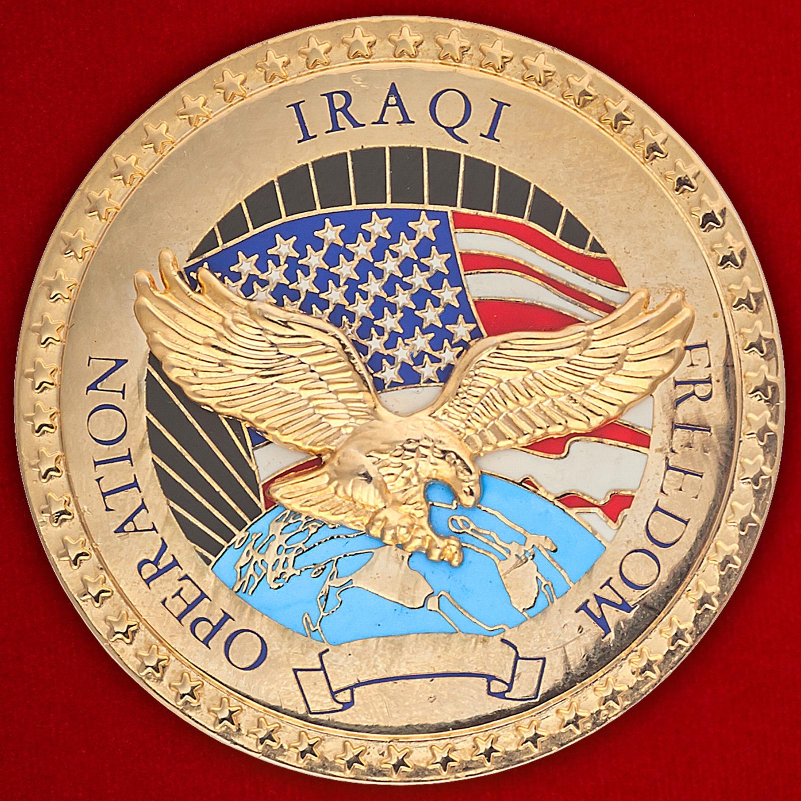 """Общевойсковой челлендж коин США """"За операцию Иракская свобода"""""""