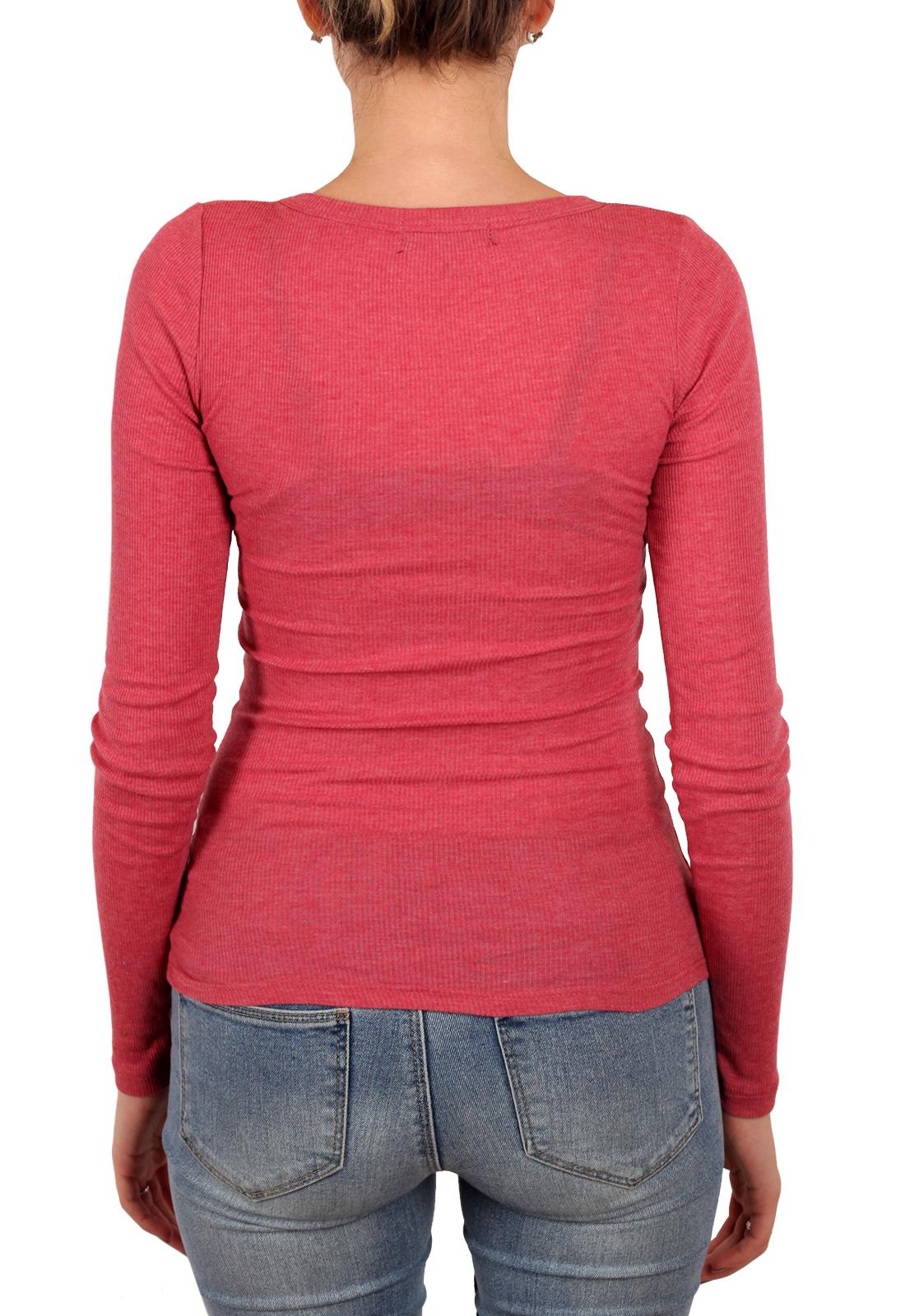 Обтягивающая женская кофточка Cotton on (Австралия). Глубокий вырез и актуальный в этом сезоне насыщенно-малиновый цвет