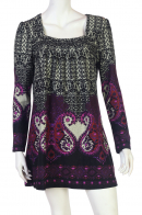 Очаровательное платье с оригинальным принтом от бренда Z&L купить с доставкой - купить онлайн